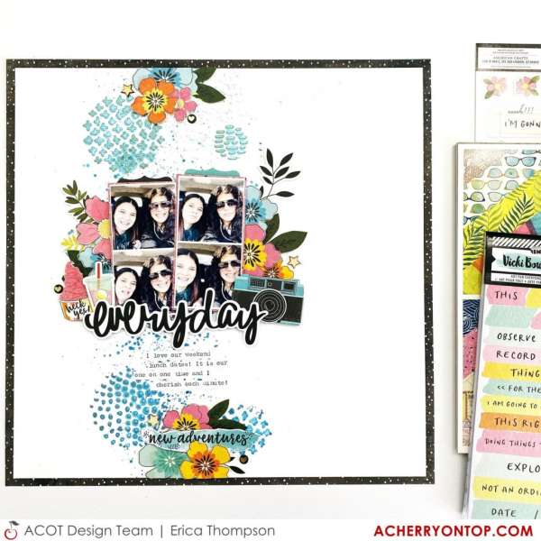 Stenciled Layout Background