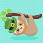 St. Patrick's Day Sloth - Digital Printout