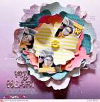 Layered Flower Petals Layout