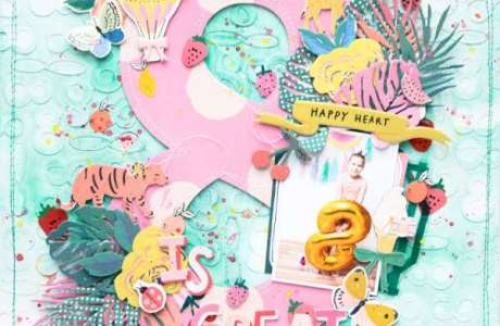 8 Years Old Birthday Layout