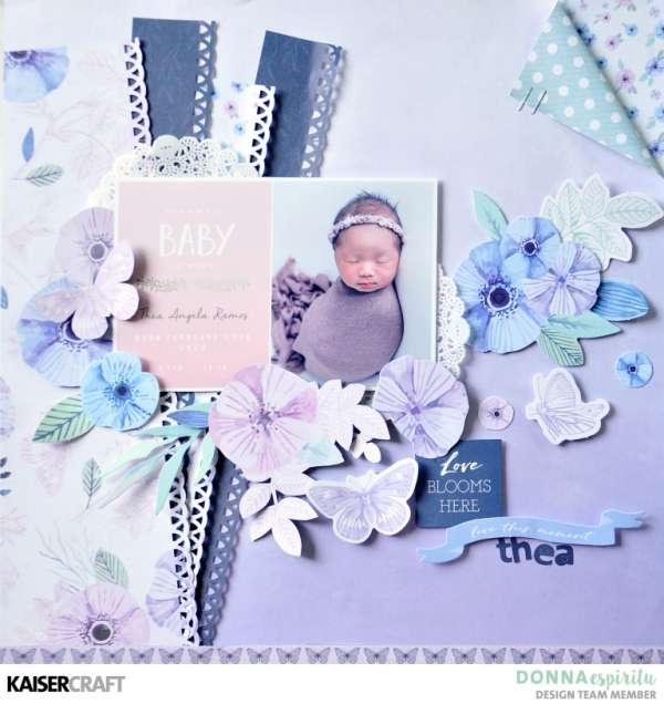 Baby Announcement Layout