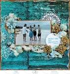 Blue Beach Scrapbook Layout