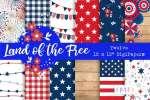 12 FREE Patriotic Pattern Papers