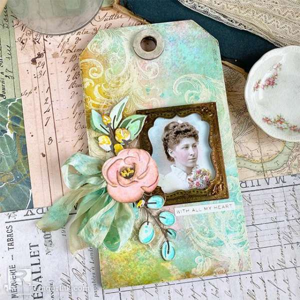 Vintage Photo Tag with Inking Techniques