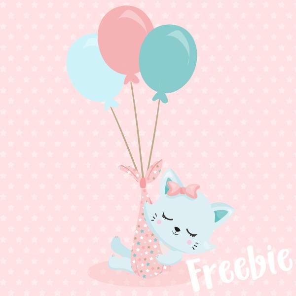 Baby Kitten Clip Art Freebie