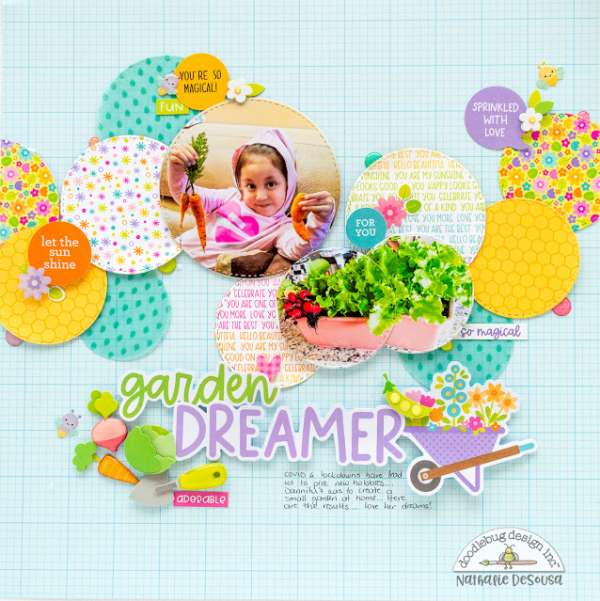 Garden Circles Scrapbook Layout