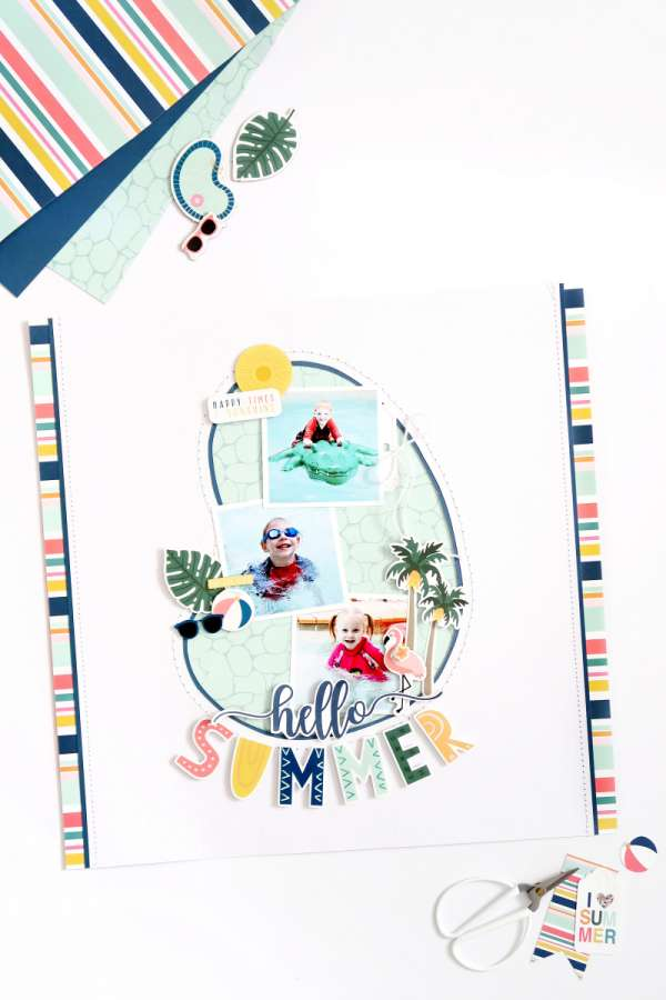 Pool Party Scrapbook Page
