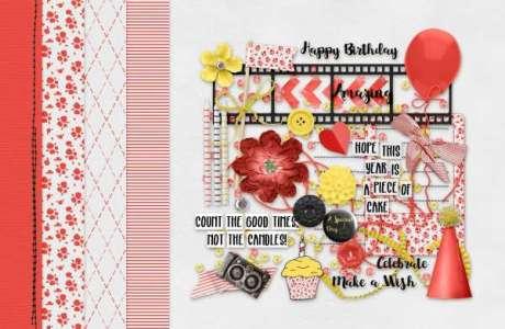 Free Birthday Mini Digital Scrapbook Kit