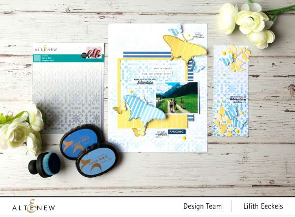 How to Create a Scrapbook Background with Stenciling