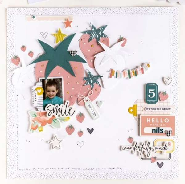 Summer Layout with DIY Strawberries