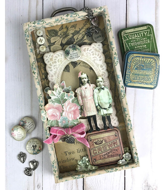 Vintage Shadow Box Project