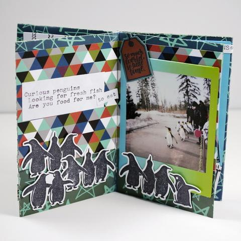 Create a Mini Album from 1 Sheet of Pattern Paper