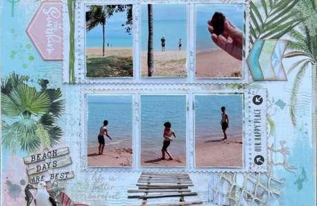 Beach Vibes Scrapbook Layout