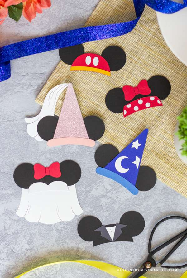 6 FREE Disney Mickey and Minnie Mouse Hat Dies