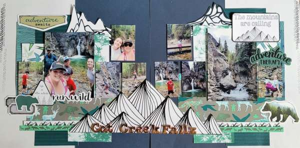 Outdoor Adventure Double Page Layout
