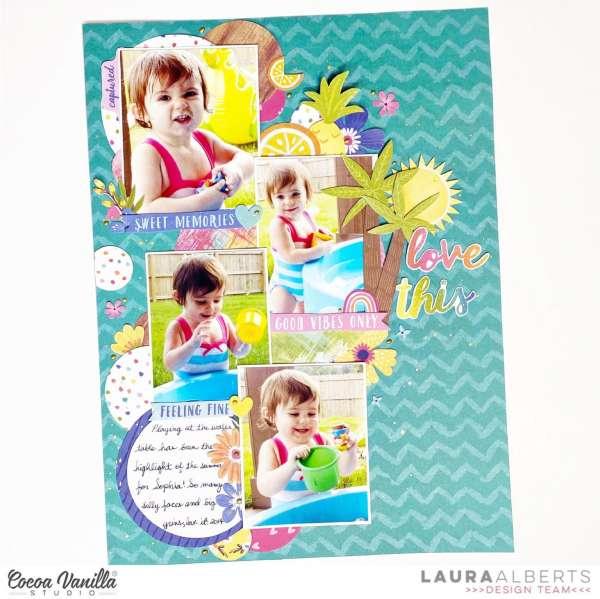 Summer Circles Scrapbook Layout