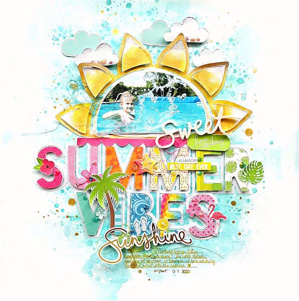 Summer Vibes Sun Layout