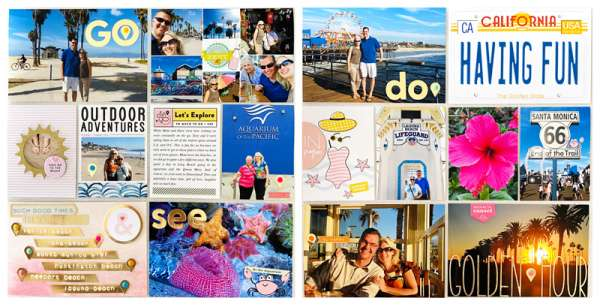 California Vacation Page with Free Printables