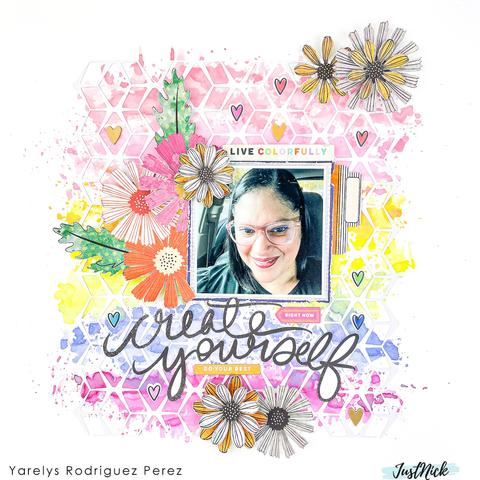 Create Yourself Scrapbook Page