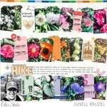 Rows of Tags Scrapbook Layout