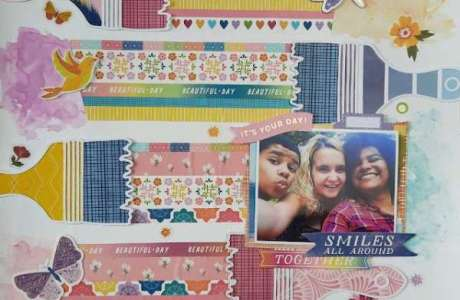 Washi Tape Paint Stripes Page