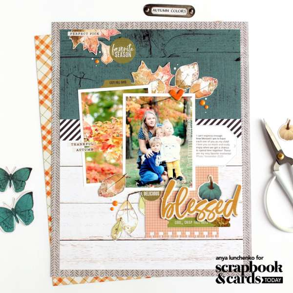Blessed Fall Layout with Sketch