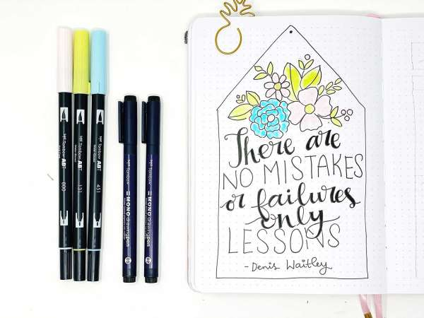 Hand Written Journal Quote
