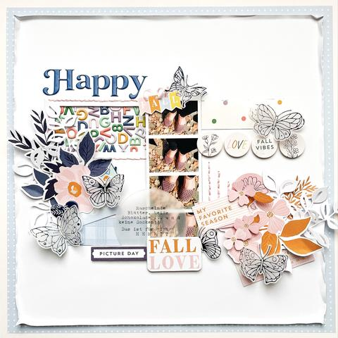 Happy Fall Scrapbook Layout