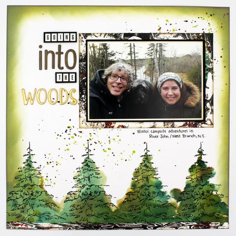 Into the Woods Inked Layout