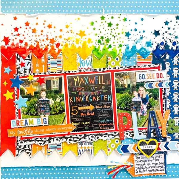 Kindergarten Rainbow Layout