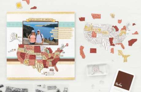 Paper Piecing Map Layout