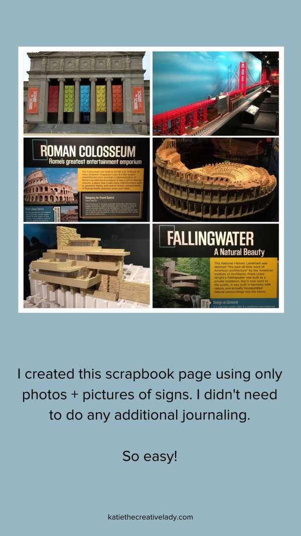 Scrapbook Tip: Use Signage