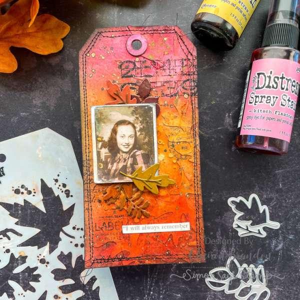 Mixed Media Autumn Tag