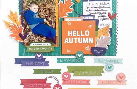 Autumn Sentiment Strips Layout and Sketch