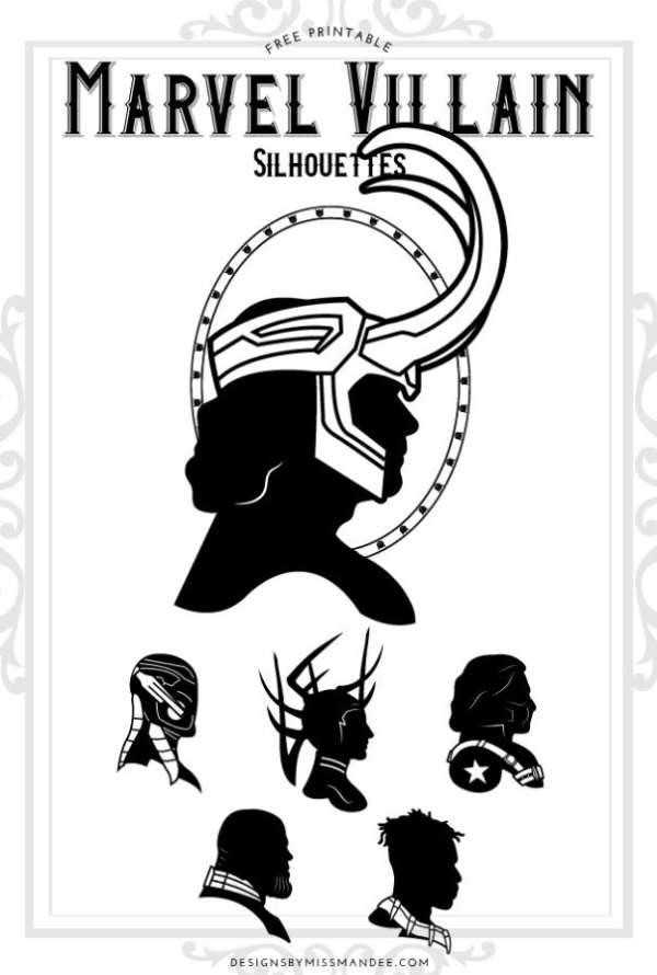 Marvel Villains Silhouette Dies Freebie