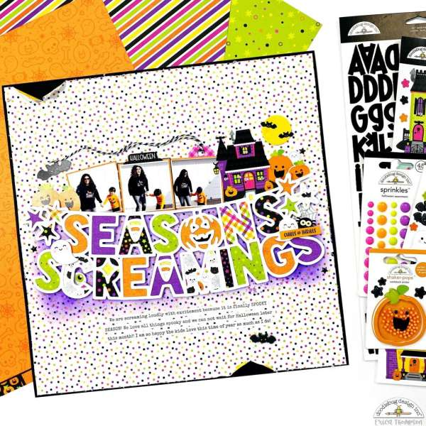 Season's Screamings Halloween Layout