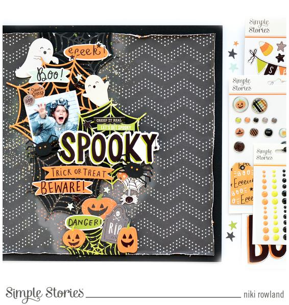 Two Halloween Clustered Layouts