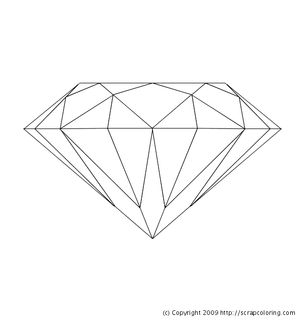 Free coloring pages of draw diamonds