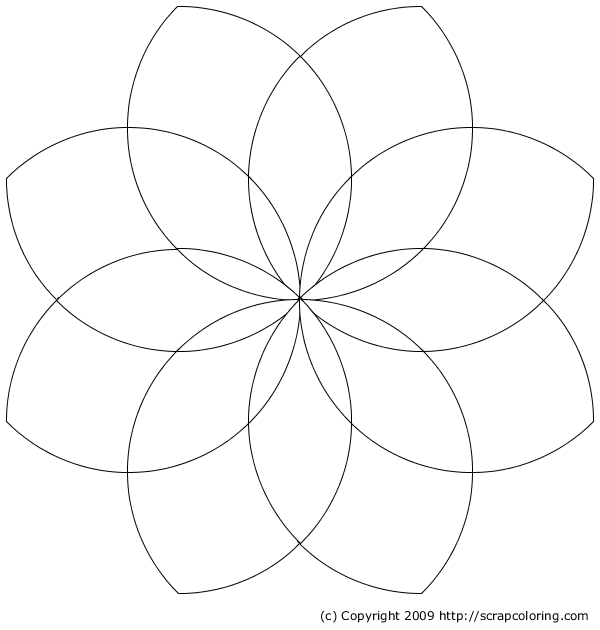 5 Petal Flower Coloring Page Coloring Pages