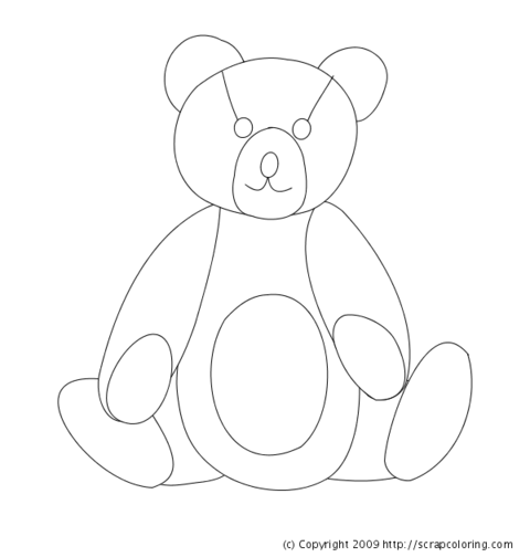 Paddington Bear Colouring Sheet