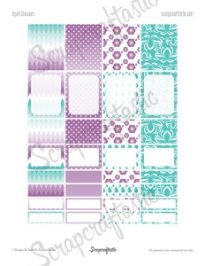 April Showers Printable Planner Stickers for Erin Condren Planner