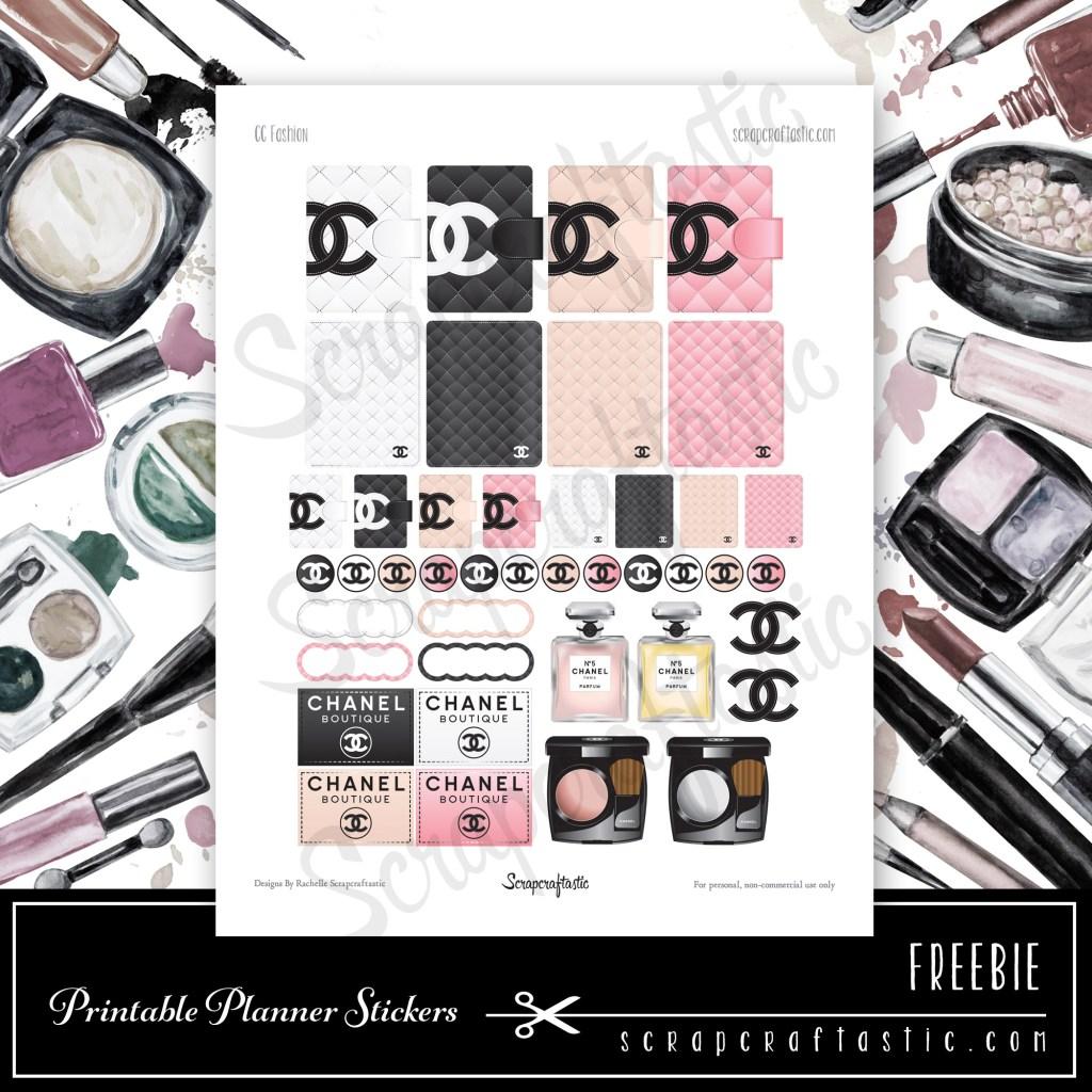 CC Fashion Printable Planner Stickers - FREE Printable