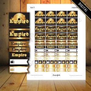 Empire TV Show Printable Planner Stickers