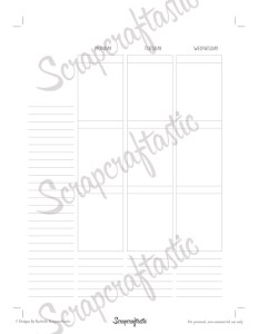EC Style Week On Two Pages (WO2P) Classic HP Size Printable Planner Insert