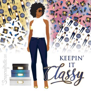 Keepin' It Classy Printable Planner Stickers, Clipart and BONUS Printable Patterns