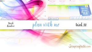 Rainbow Happy Planner Plan With Me Week 31