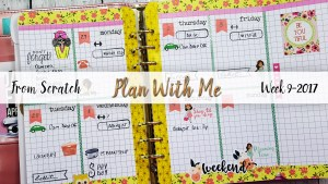 "Week 9-2017 / Plan With Me ""From Scratch"" for A5 Michael's Recollections Planner"