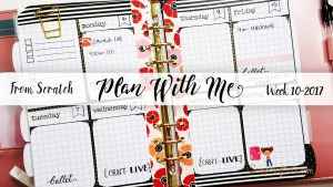 "Week 10-2017 / Plan With Me ""From Scratch"" for A5 Michael's Recollections Planner"