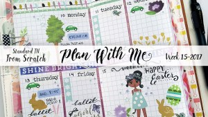 "Week 15-2017 / Plan With Me ""From Scratch"" Traveler's Notebook Standard Size"
