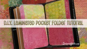 Laminated Pocket Folder Midori Style Traveler's Notebook Tutorial